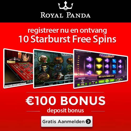 Welkomstbonus Royal Panda Casino